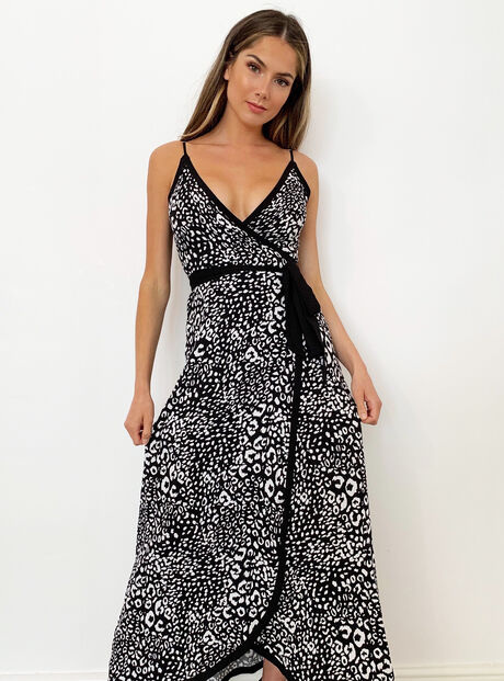 Mono leopard beach dress
