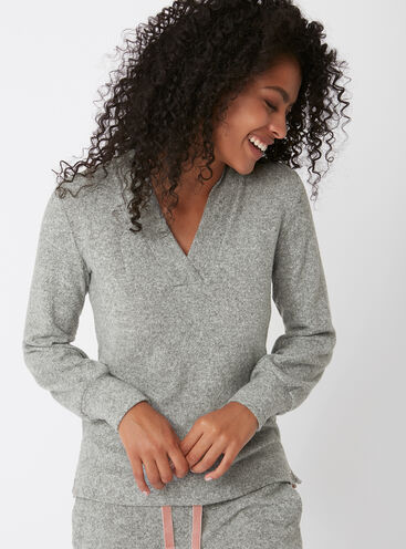 Slouchy fleece top