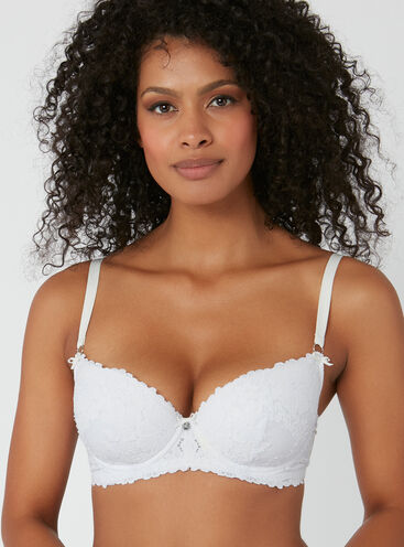 Sweetheart lace full support bra