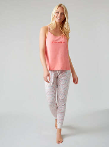 Dream with me cami and jogger set