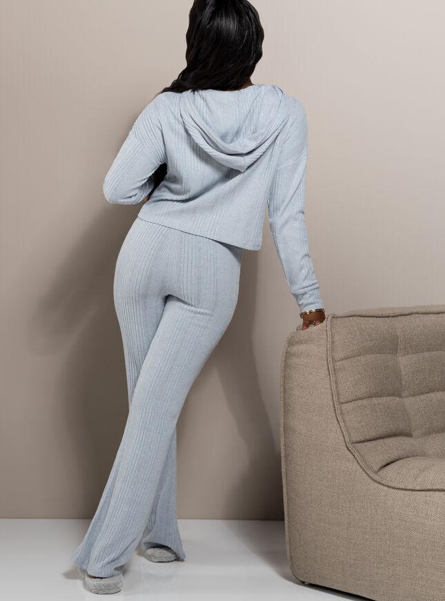 Lyla ribbed lounge flare pant