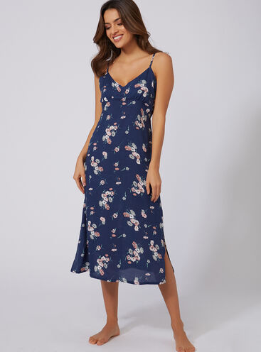 Wildflower printed midi slip