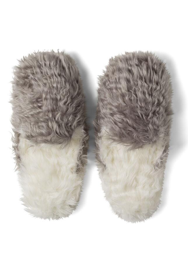 Fluffy loafer slippers