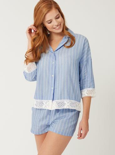 Stripe crochet pyjama set