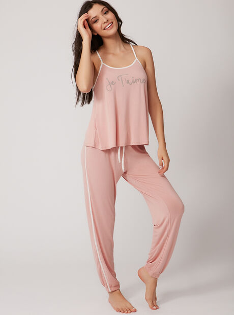 Je t'aime cami and jogger set