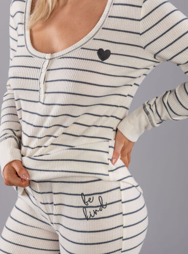 Be kind stripe henley & legging