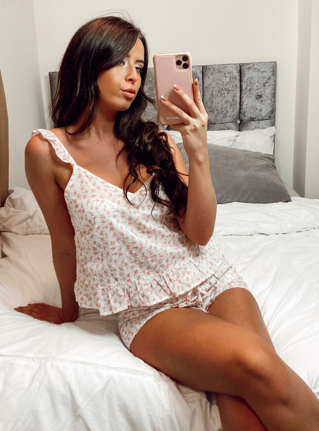 Ditsy floral cami and shorts set