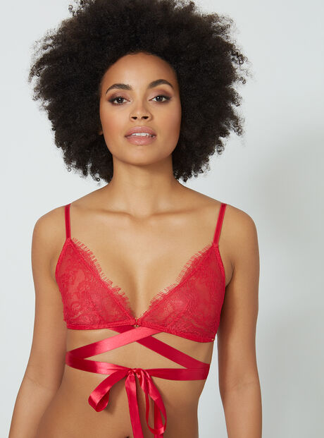 Destiny lace triangle bra