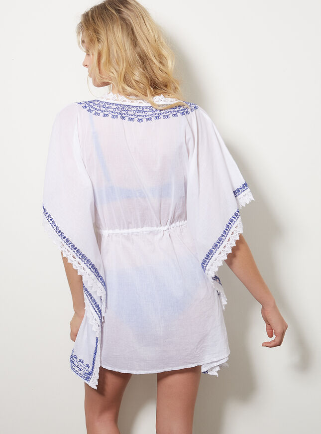 Embroidered beach cover up