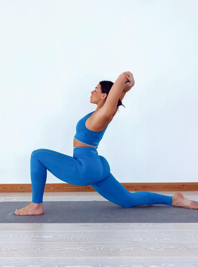 Boux Sport jacquard textured leggings