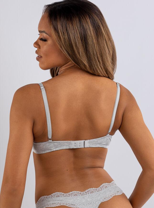 Tatiana cotton plunge T-shirt bra