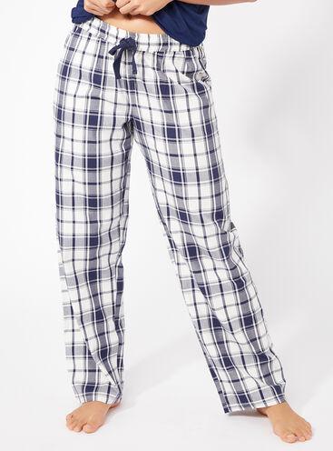 Mono check pants