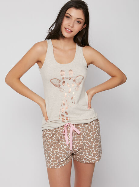 Giraffe vest and shorts set