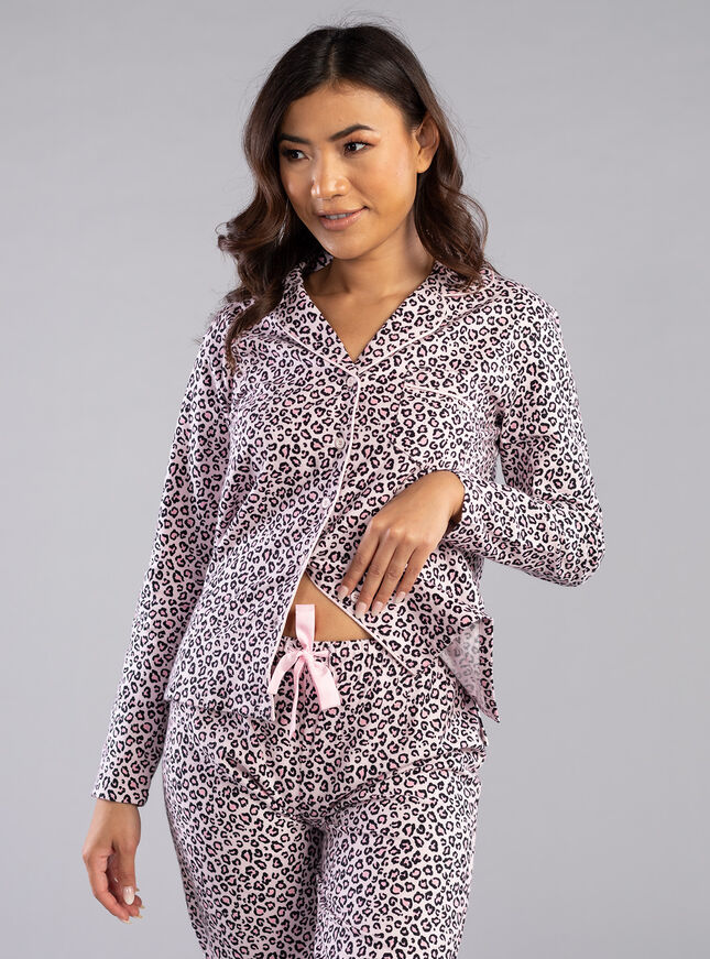 Leopard PJs in a bag