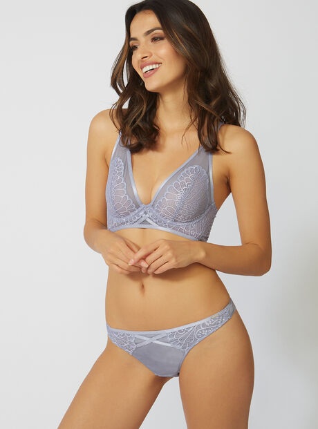 Abstract lace thong