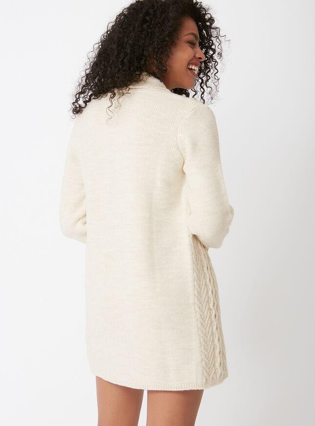 Textured longline cardigan