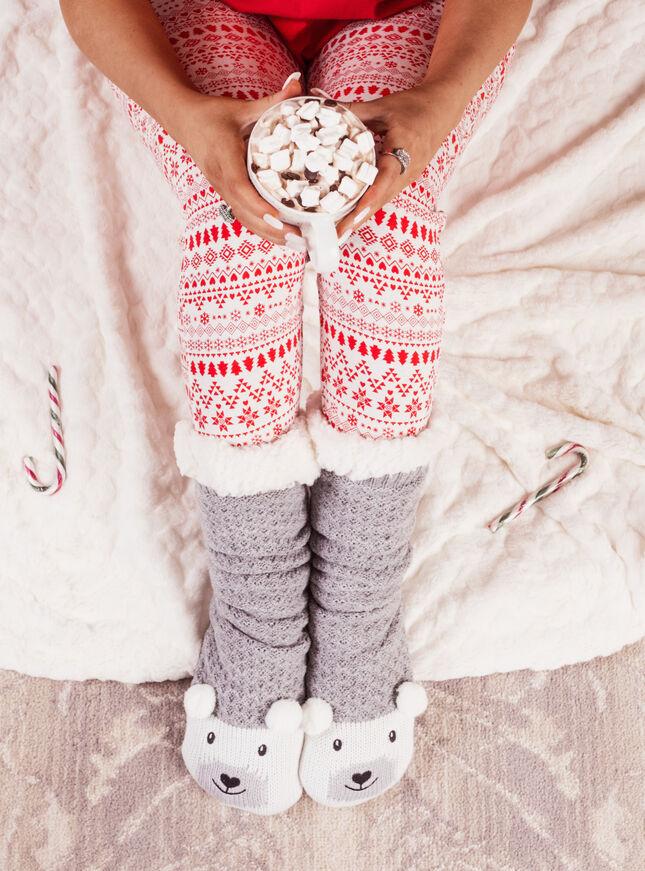 Polar bear slippers socks