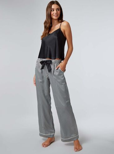 Cami & liquorice stripe pants pyjama set