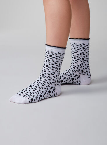 2 pack dalmatian socks
