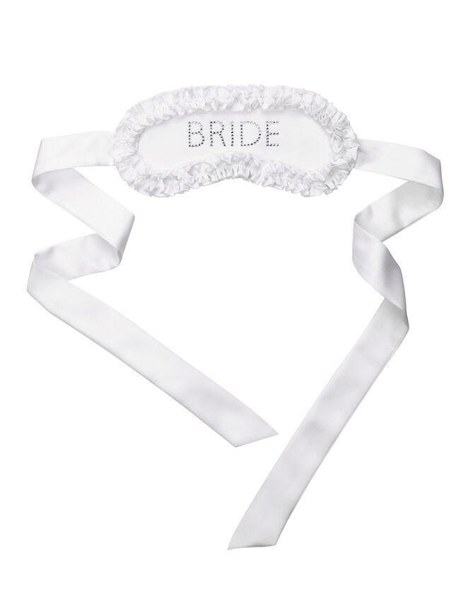 """Bride"" satin eye mask"