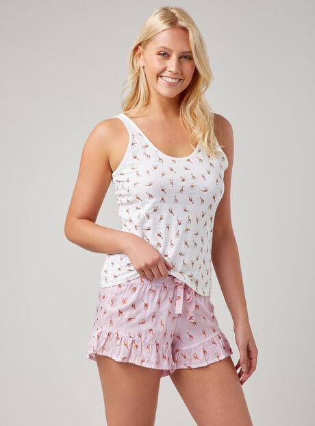 Giraffe print pyjama set