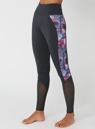 Activewear abstract full length leggings