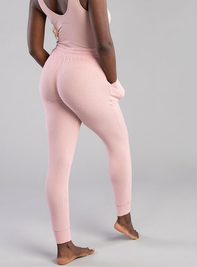 Lillie ribbed lounge jogger