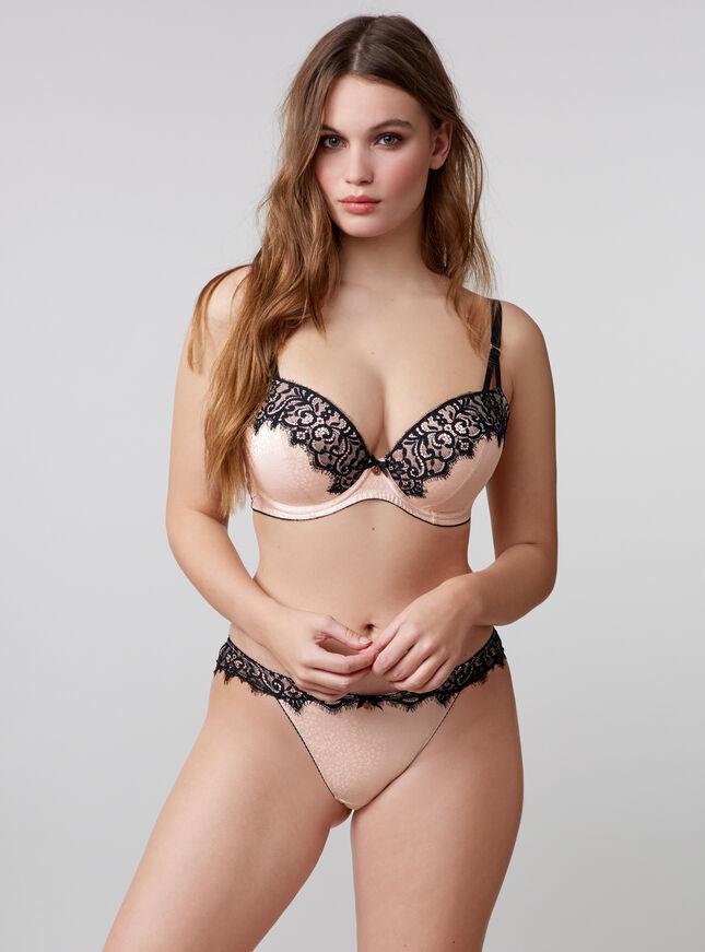 Eleanora leopard balconette bra