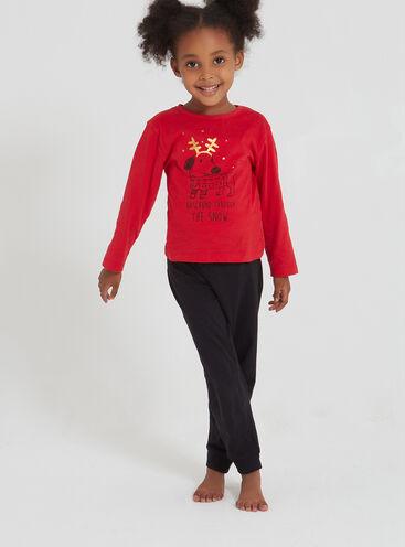 Daschund girls pyjama set