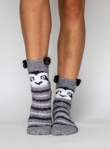 Racoon cosy socks
