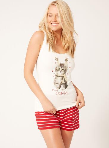 Merry catmas pyjama set