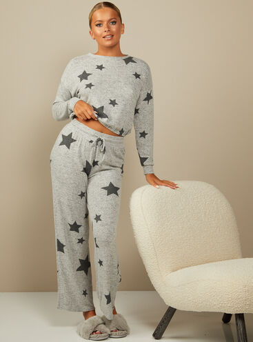 Sia star print top and wide leg trousers