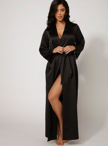 Frances satin robe