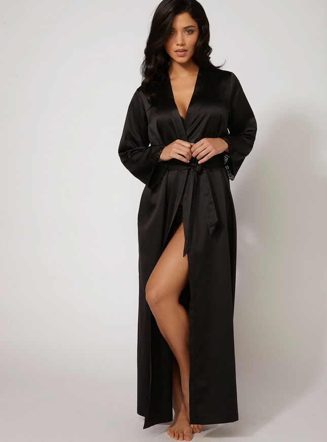 Frances satin robe