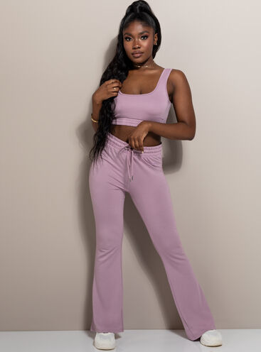 Mila lounge flare trousers