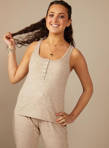 Soft Boux pointelle matching vest and leggings set