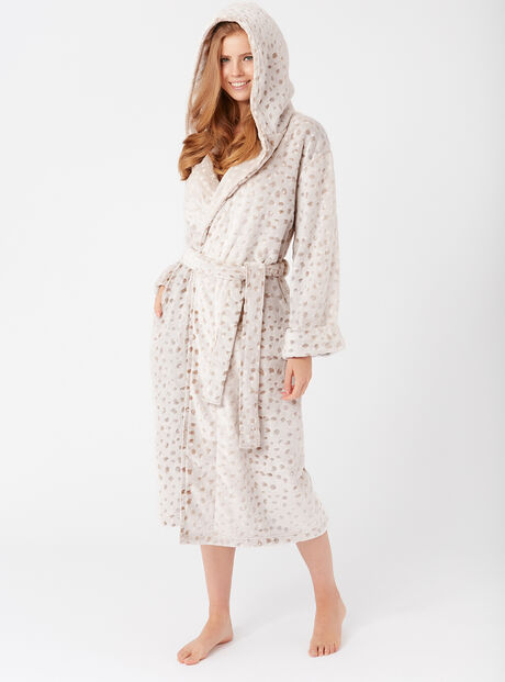 Frosted deer dressing gown