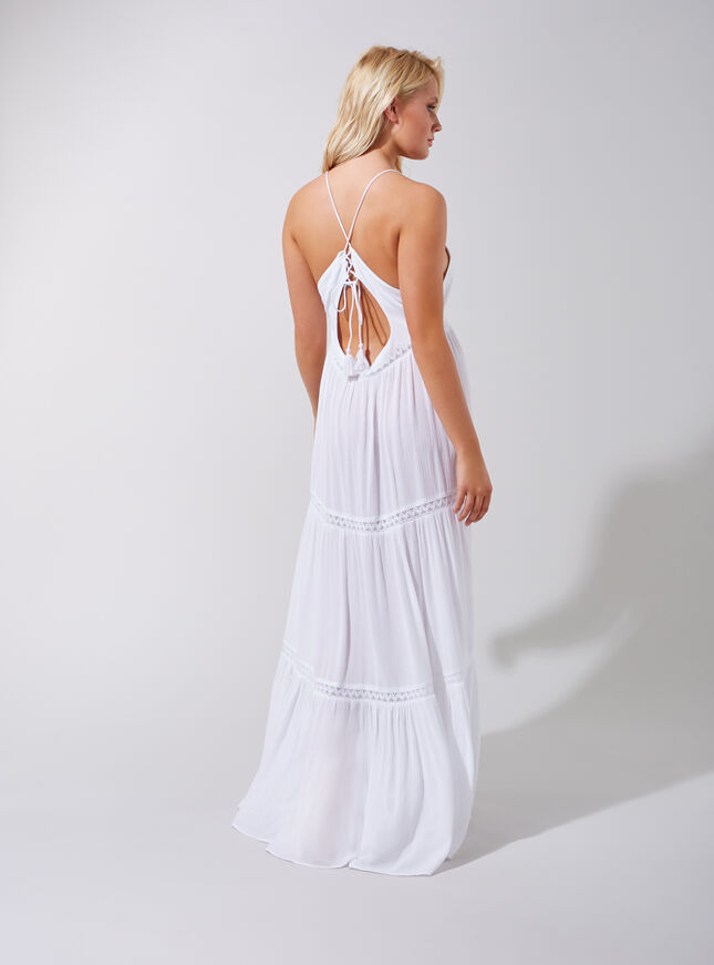 Layered maxi beach dress