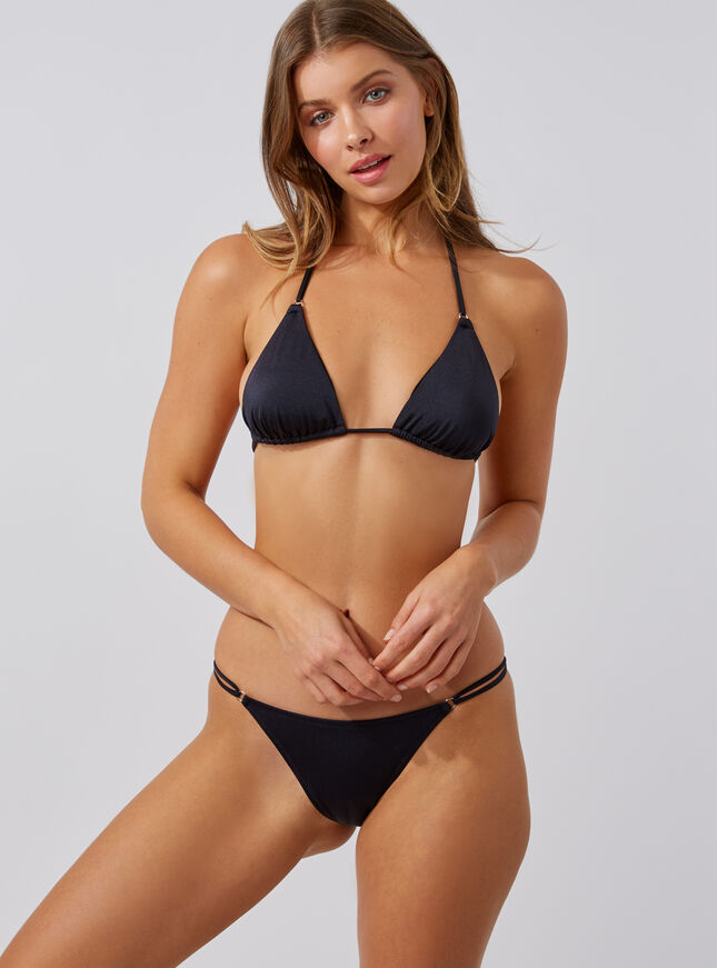 Ring detail triangle bikini top