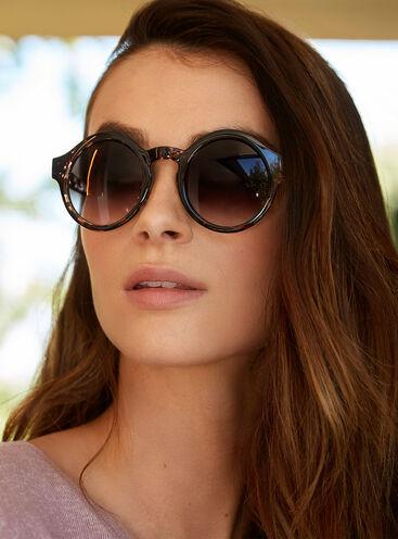Round tortoise shell sunglasses