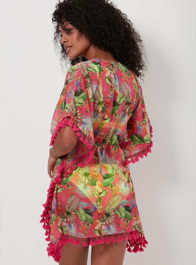 St Lucia floral kaftan