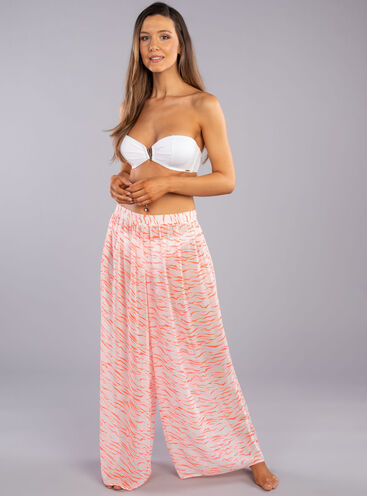 Tiger wide leg beach trousers