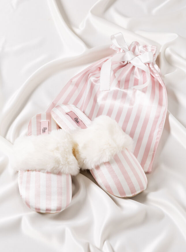 Stripe Slippers in a bag