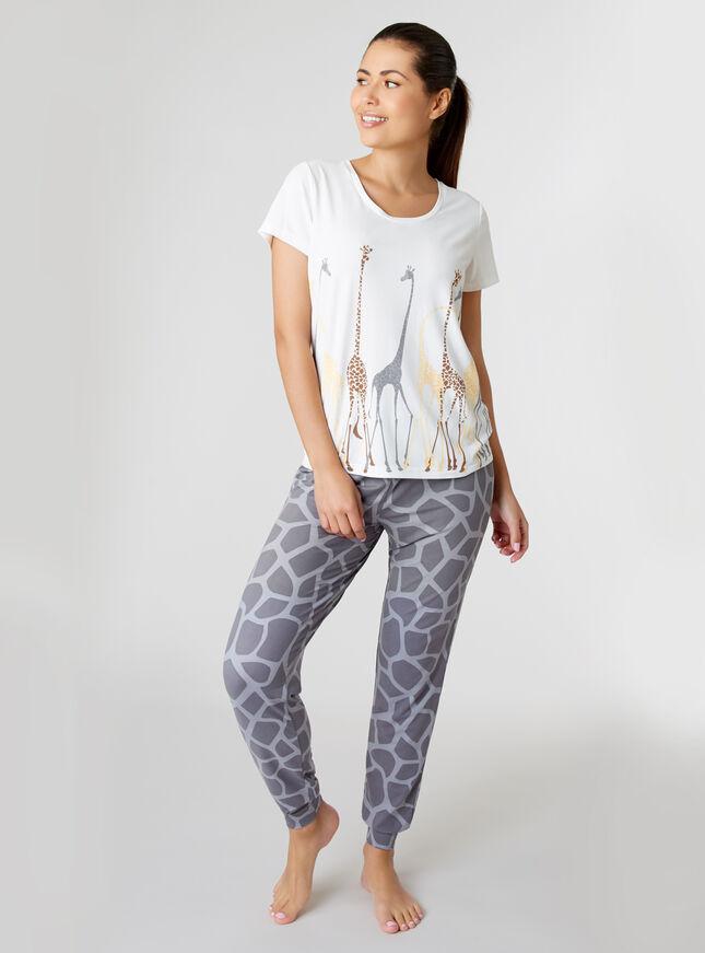 Multi giraffe pyjama set