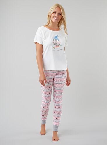 """""""Happy owlidays"""" pyjama set"""