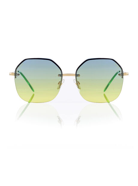Rimless ombre sunglasses