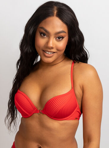 Martinique pleat bikini top