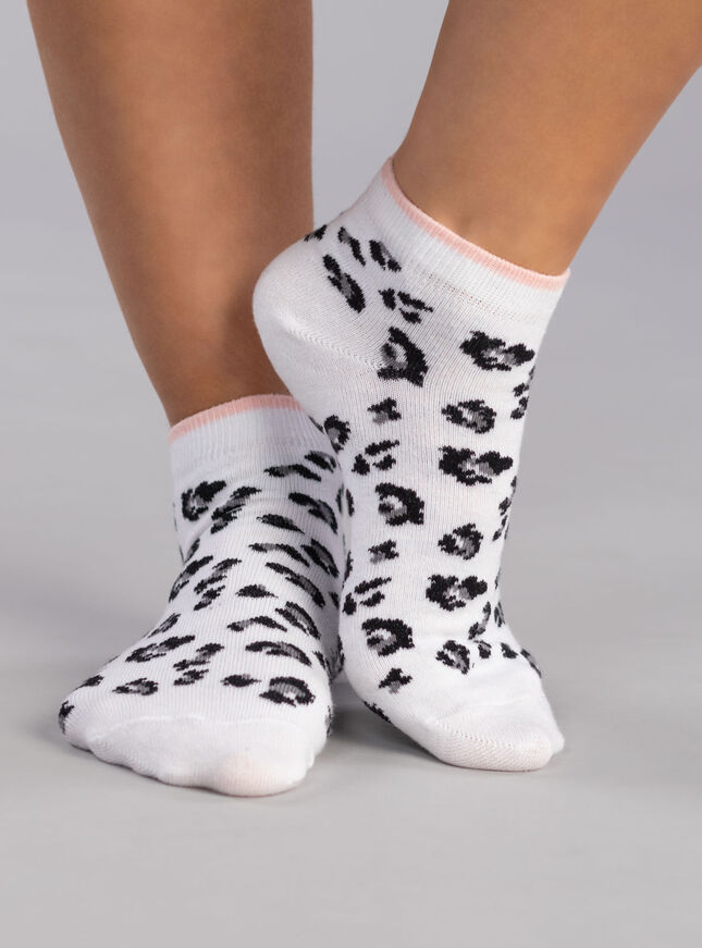 3 Pack Leopard trainer socks
