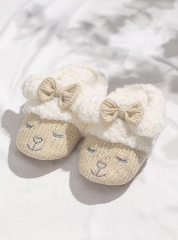 Lamb mule slippers