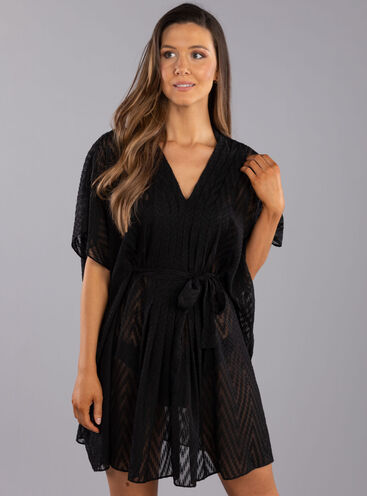 Textured pleated kaftan